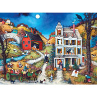 Halloween Hayride 300 Large Piece Jigsaw Puzzle