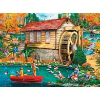 Autumn Gristmill 300 Large Piece Jigsaw Puzzle
