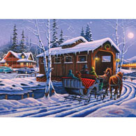 Romantic Christmas 300 Large Piece Jigsaw Puzzle