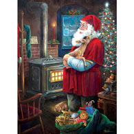 Santa And Fawn 300 Large Piece Jigsaw Puzzle
