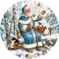 Santa Feeding Time 300 Large Piece Round Jigsaw Puzzle