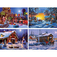 Set of 4: Geno peoples 300 Large Piece Jigsaw Puzzles