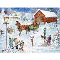 Christmas Sleigh Ride 300 Large Piece Jigsaw Puzzle