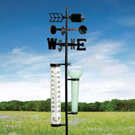 Indestructible Metal Garden Weather Station