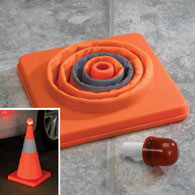 Pop-up Flashing Safety Cone