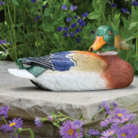 Motion Sensor Duck Garden Sculpture