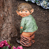 Surprised Garden Elf Statue