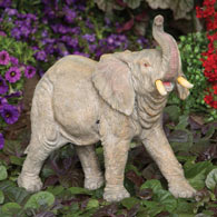 Motion Sensor Elephant Garden Sculpture