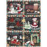 Winter Patchwork 300 Large Piece Jigsaw Puzzle