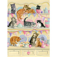 Kitties On A Dresser 1000 Piece Jigsaw Puzzle