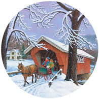 Crossing Over 300 Large Piece Round Jigsaw Puzzle