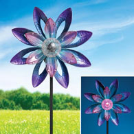 Solar Watercolor Wind Spinner