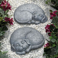 Set of 2: Right and Left Dog Stepping Stones