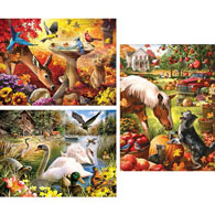 Set of 3: Larry Jones 300 Large Piece Jigsaw Puzzles