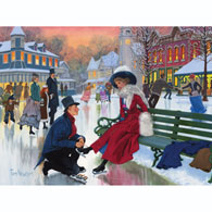Skaters In Love 300 Large Piece Jigsaw Puzzle