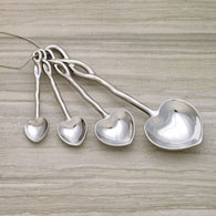 Heart Measuring Spoons - Set of 4