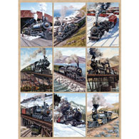 Locomotive Power Quilt 500 Piece Jigsaw Puzzle