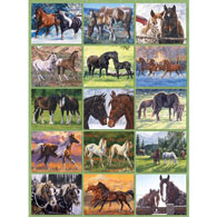 Horse Lover's Quilt 500 Piece Jigsaw Puzzle
