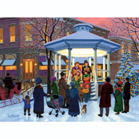 Sunset Carolers 500 Piece Jigsaw Puzzle
