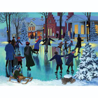 Joyful Skaters 300 Large Piece Jigsaw Puzzle