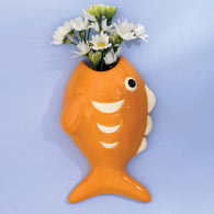 Ceramic Fish Wall Vase