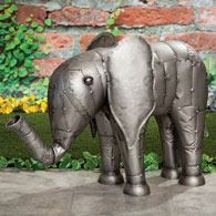 Metal Elephant Sculpture