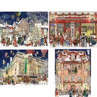 Set of 4: Barbara Behr Christmas 500 Piece Jigsaw Puzzles