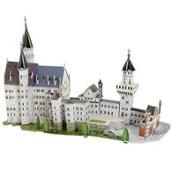 Neuschwanstein 3-D Puzzle Model