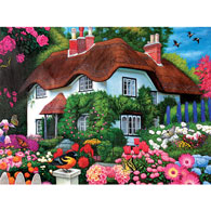 Flower Cottage 1000 Piece Jigsaw Puzzle