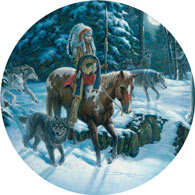 Moon Walk 300 Large Piece Round Jigsaw Puzzle