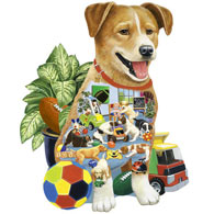 Puppy Preschool 750 Piece Shaped Jigsaw Puzzle