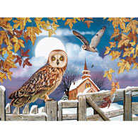 Owl In The Churchyard 300 Large Piece Jigsaw Puzzle