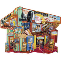 Movie Memories 300 Large Piece Shaped Jigsaw Puzzle