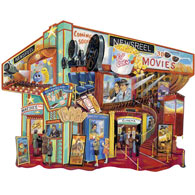 Movie Memories 750 Piece Shaped Jigsaw Puzzle