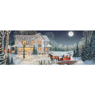 Holiday Night Ride 500 Large Piece Panoramic Jigsaw Puzzle