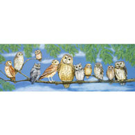 Owl Talk 500 Large Piece Panoramic Jigsaw Puzzle
