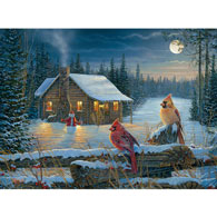 Moonlight Cabin 300 Large Piece Jigsaw Puzzle