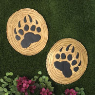 Set of Two Bear Claw Stepping Stones