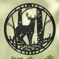 Deer Sihouette Metal Wall Art