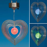 Hanging Heart Solar Spinner