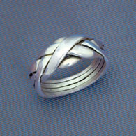 Four Band Sterling Silver Puzzle Ring