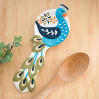 Peacock Spoon Rest
