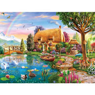 Lakeside Cottage 300 Large Piece Jigsaw Puzzle