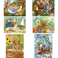 Set of 6: Jane Maday 1000 Piece Jigsaw Puzzles
