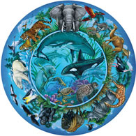 Circle Of Life 300 Large Piece Round Jigsaw Puzzle