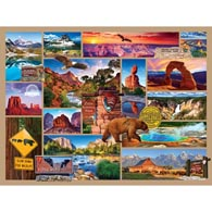 National Parks 300 Large Piece Collage Jigsaw Puzzle