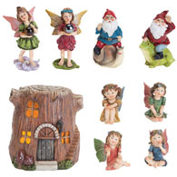Complete Woodland Fairy Village Set