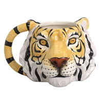 Jumbo Animal Shaped Tiger Mug 16 oz