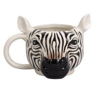 Jumbo Animal Shaped Zebra Mug 14oz