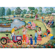 Maple Street Park 500 Piece Jigsaw Puzzle